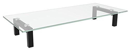 RICOO TV Ständer Monitorständer Bildschirmständer Podest FS8235C Universal Standfuß Rack Fernsehständer LCD QLED QE 4K LED OLED IPS SUHD UHD 3D Curved/ 76cm/30-165/65