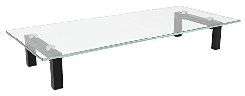 Full-motion Flat Panel Mount (RICOO TV Ständer Monitorständer Bildschirmständer Podest FS8235C Universal Standfuß Rack Fernsehständer LCD QLED QE 4K LED OLED IPS SUHD UHD 3D Curved/ 76cm/30