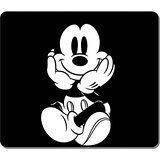 Gaming Mouse Pad, Large Mouse Mat 12.87x11.02x0.15 IN, Customizable Black Mickey Mouse Natural Eco Rubber Oblong MousePad Computer Desk Stationery Accessories Mouse Pads For Gift