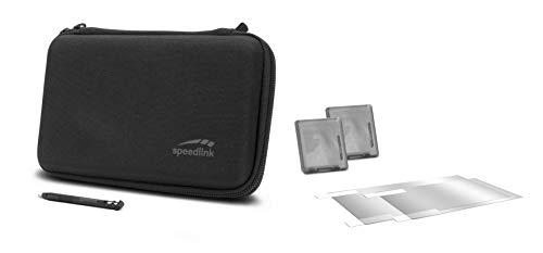 SPEEDLINK 7-in-1 Starter Kit für N2DS XL - Touchscreen-Stift - Box für Spiele - Schutzfolie - Mikrofasertuch - Transporttasche - Schwarz