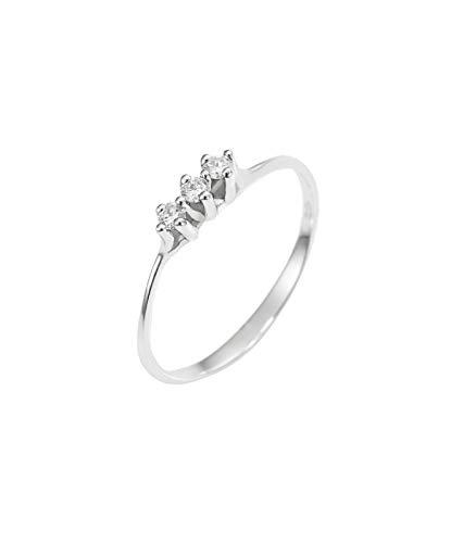 Anello Trilogy in Oro bianco 18k con Diamanti - 13...