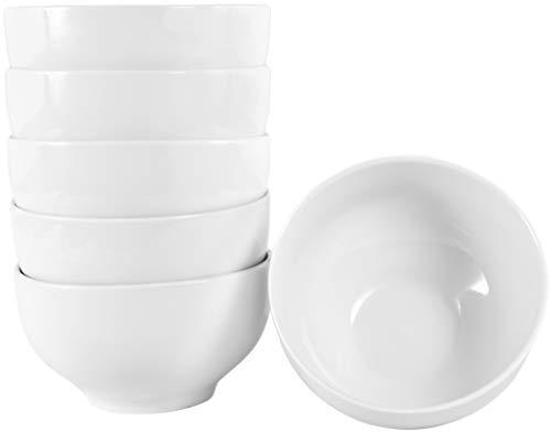 Müslischale (Set aus 6 Stück 500 ml Müslischalen Müslischüsseln aus echtem Porzellan auch zum Bemalen bestens geeignet (Dessertschale Snackschale Suppenschüssel))
