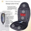Massage Car Seat and Chair Cushion. 5 Massage Modes with Heat Timer and Remote. 12v Auto Adapter Inc