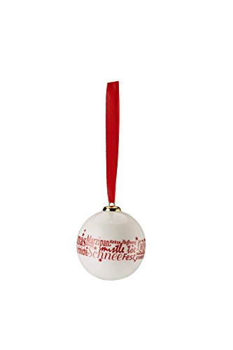 Hutschenreuther Merry Christmas Nordic Red Petit Boule Porcelaine Happy Holiday/Ø 6 cm, Porcelaine, Rouge, 7 x 7 x 9 cm