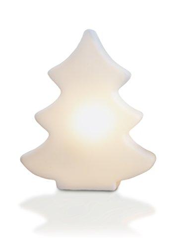 8 seasons design - Kleiner LED Deko Tannenbaum Shining Tree Micro (11,5 cm, batteriebetrieben, Weihnachtsdeko, kleines Weihnachtsgeschenk, Indoor) weiß