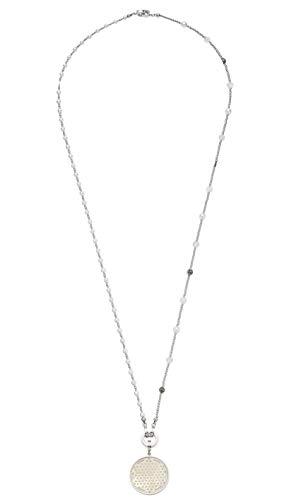 JEWELS BY LEONARDO DARLIN\'S Damen-Set-Halskette Vaporoso, Edelstahl mit Imitations-und Schliffglas-Perlen, CLIP & MIX System, Länge 900 mm, 016817
