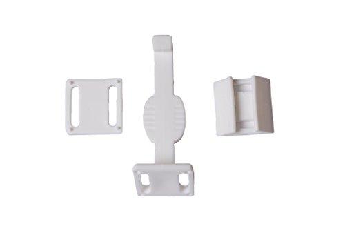 Heavy Kunststoff-schubladen Duty (Bulk Hardware bh51985Heavy Duty Kind beständig Schublade Tür catch-white Kunststoff, 6Stück, 6Stück)