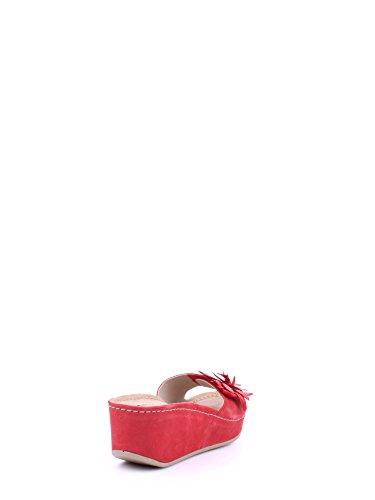Melluso Q60052 Mules Femme Rouge - rouge