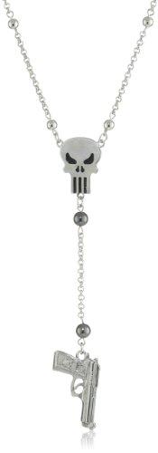 Punisher Gun Charm Necklace