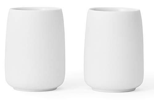 Viva Scandinavia 9102151 Lot de 2 Tasses en porcelaine Blanche 17 cl Blanc