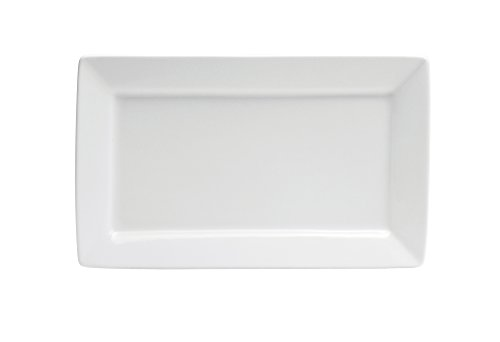 Oneida Foodservice F8010000383S Bright White Platter Rectangle 14 1/2 In (Set of...