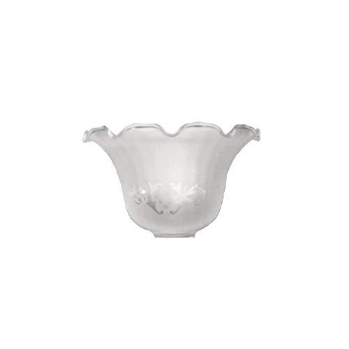 Tulipa de cristal Granada mate 10x17cm boca de 4 cm LB 529582