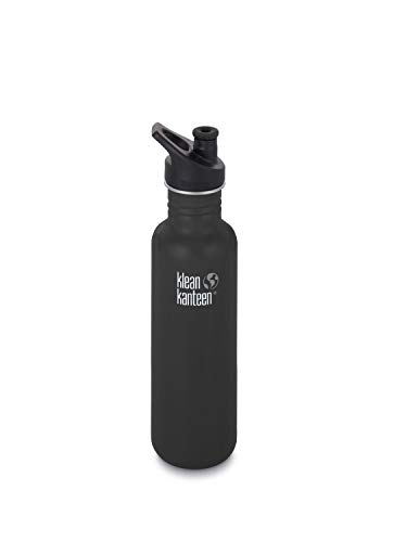 Klean Kanteen Classic Trinkflasche, Shale Black matt, One Size -