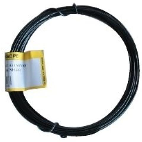 Alambre de aluminio – 5 metros de rollo de alambre, 25 gramos – color negro