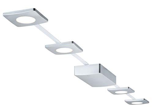 Paulmann LED Deckenleuchte PadLED EcoPad Square 5m Set 4x2 Chromfarben | LEDs fest verbaut 2,2W 238lm warmweiß | 953.49