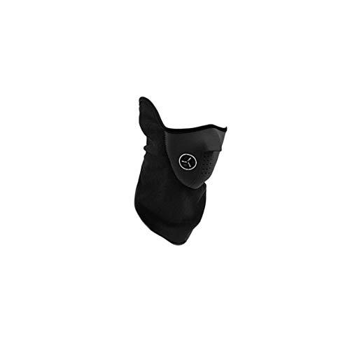Delicacydex Unisex Mode Frühjahr Outdoor Sports Motorrad Fahrrad Radfahren Paintball Filter Guards Staubdicht Halswärmer Gesichtsmaske-Schwarz