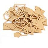 54 Stück/Set handgefertigte Quilt-Schablonen aus transparentem Acryl Muster Schablone DIY Werkzeug für Lederhandwerk Quilten Nähwerkzeug -