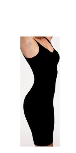 Bodyfit - Sottoveste modellanti - Basic - Donna, Black, 40 / 42