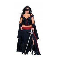 üm für Damen Gr. XL, Größe:XL (Erwachsene Lady Zorro Kostüme)