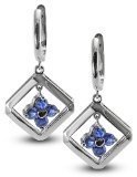 clevereve-luxury-series-clover-silver-earrings-w-3mm-genuine-round-sapphire