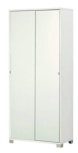 Esidra Armadio Contenitore, 2 Ante scorrevoli, Legno, 82 x 41 x 190 cm
