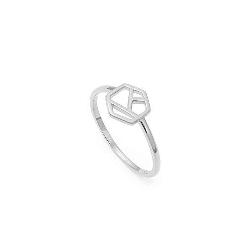 prettique Ring aus 925 Sterlingsilber in geometrischem Design – 14 EUR