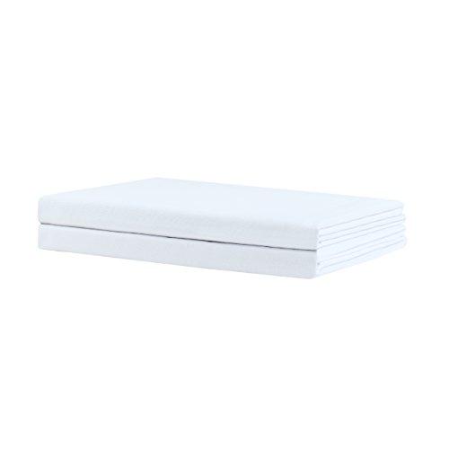 Nature Mark 90101 Klassisches weißes Bettlaken/ Haustuch/ Tischdecke/ Allzweck- Textiltuch 100% Baumwolle 150 x 250 cm 95°C waschbar, Baumwolle, Weiß, 32 x 25 x 1.5 cm