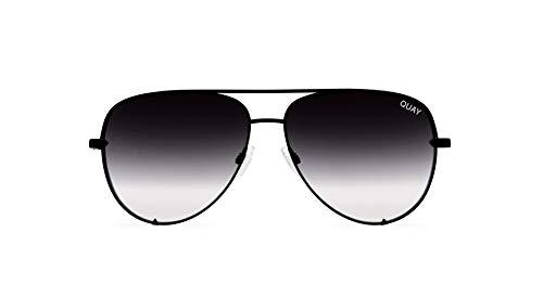 Quay Australia Unisex-Erwachsene HIGH KEY Sonnenbrille, Schwarz (Black/Fade), 150