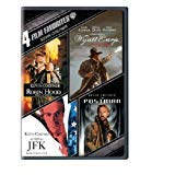 Kevin Costner 4 FILM FAVORITES DVD Set (ROBIN HOOD + WYATT EARP + JFK + THE POSTMAN)