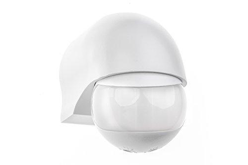 HUBER MOTION 3, Infrarot Bewegungsmelder 180°, weiß, horizontal und vertikal einstellbar, für Innen- und Außenbereich, IP44 Spritzwasser geschützt