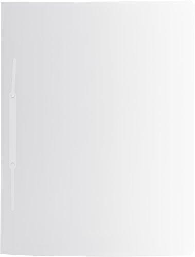 Brunnen 102015600 Schnellhefter (A4, mit je einem Einsteckfach vorne und hinten, mit Amtsheftung, aus PP) weiß