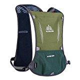 Etbotu trinkrucksack 5L Weste Rucksack blufied Licht Gewicht Trinkblase Tasche mit Reflektierende Streifen für Unisex Frauen Herren Laufen Ski Wandern Fahrrad, rose