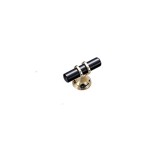 Behandeln Griff ziehen mit einem fein gebürsteten Finish Küchenschrank Hardware Kommode Schubladengriffe (Color : Black, Size : XS) (Kommode Schublade Ziehen Hardware)