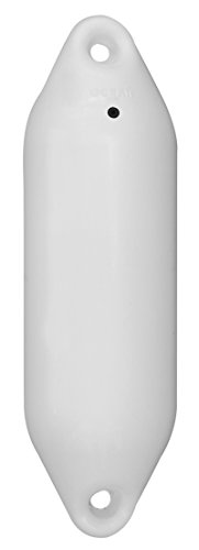 Original Ocean Fender der Serie U | 5 Größen | in Weiß | Bootsfender | Langfender | Rammschutz | (U0 - 10 x 33 cm)