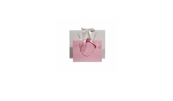 Lot de 20 Poign/ées Ruban Coton Sac /à lItalienne Format 36x15x28cm Blanc Pellicul/é Mat Comptoir de lEmballage