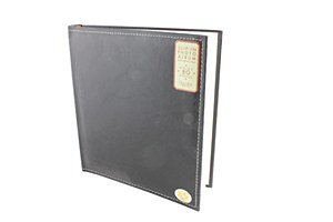 Anker Classic Buchgebundenes genäht Kunstleder 2-up 192Bild/Foto-Album zu 805x 17,8cm Fotos, rot (Genähte Kunstleder)