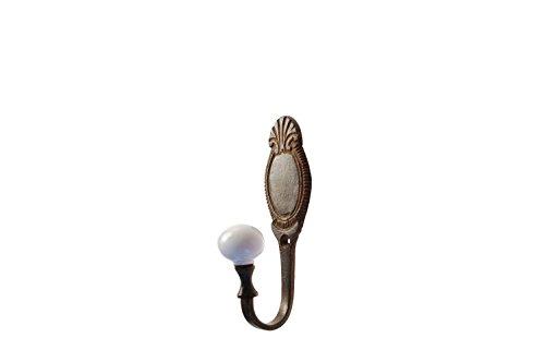French Kitchen Collection - Gancio appenditutto con medaglione, finitura anticata, 13 cm