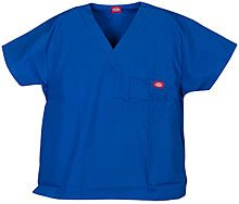 'One Pocket Unisex V-Ausschnitt Top' Scrub Top Royal Large (Pocket-v-ausschnitt-scrub-top)