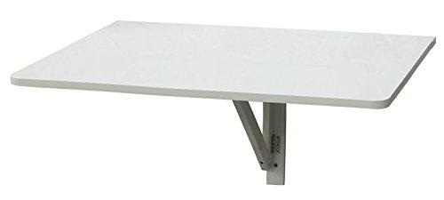 Orolay Tavolo Pieghevole a Muro Scrivanie Tavolo per Computer Tavolo da  Cucina 80x60cm (Bianco)