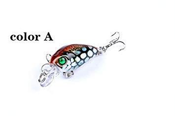 Sellify 6pcs / Lot Couleur Float Pãªche Crank Peint AppâTS 4.5cm Artificielle Isca Suspend 4 g Lure Wobbler pour Le brochet Peche - (Couleur: Style x6): Un Style 6pcs