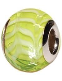 Amore & Baci: Plata Murano Bead Charm: 15mm