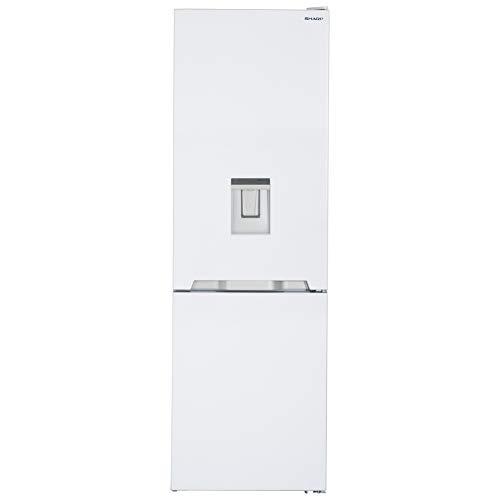 Sharp SJ-BA10IMDW2-EU Kühl-Gefrier-Kombination  / A++ / Höhe 186 cm / Kühlteil 230 L / Gefrierteil 94 L / NoFrost / LED-Piktogramme / GentleAirFlow / Wasserspender / Null-Grad-Zone / weiß