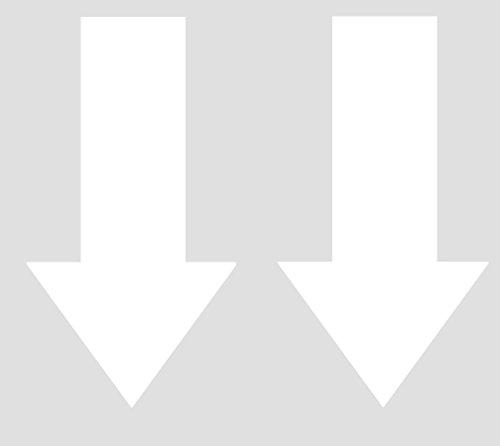 2x Abschlepphaken Pfeil Hochglanz Weiß passend für Rally, Viper 2 cm x 4 cm