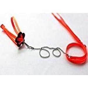zantec Generic verstellbar Reptile Eidechse Harness Leine verstellbar Multicolor, weiche Fashion (orange)