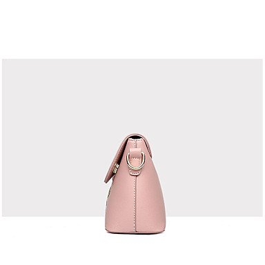 Damenmode Spleißen PU Leder Messenger Umhängetaschen Handtaschen/Klt Black