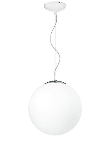Fan Europe I-LAMPD/S35 BCO Lampadario sospeso circolare, Vetro, 60 watts, Bianco, alogena