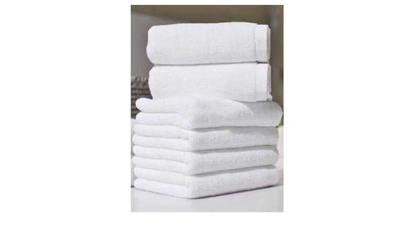 MBS EXCLUSIVE Extra Soft Thread Cotton Face Towels 600GSM Multi-Purpose Ring Spun Handy Flannels Pack of 12