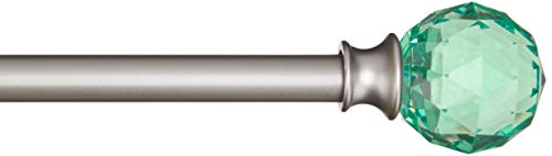 AmazonBasics - Dekorative Gardinenstange, 1,6 cm, Facettierter Ball-Knauf - 122 cm, Limetten-Grün