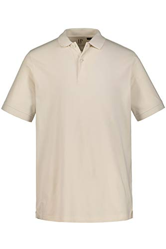 JP 1880 Herren große Größen bis 8XL, Poloshirt, Oberteil, T-Shirt mit Knopfleiste & Hemdkragen, Pique, Reine Baumwolle kitt 3XL 702560 13-3XL -