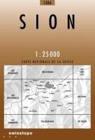 Swisstopo 1 : 25 000 Sion (Landeskarte Der Schweiz)